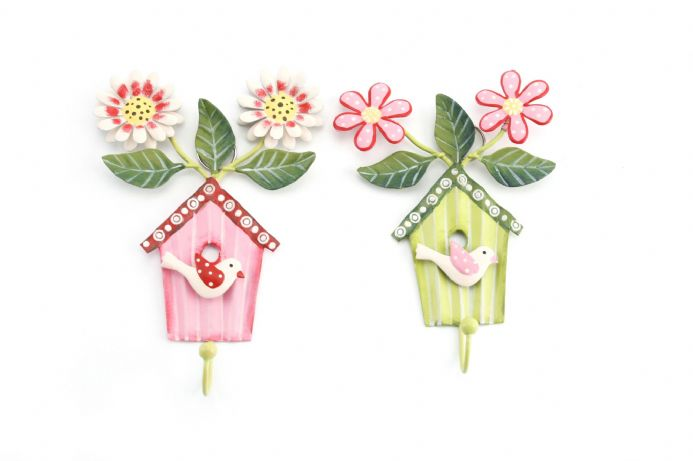 Pretty little birdhouse Hooks (x2)